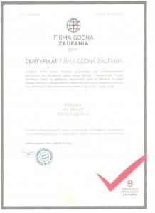 Pralnia - Firma Godna Zaufania 2017